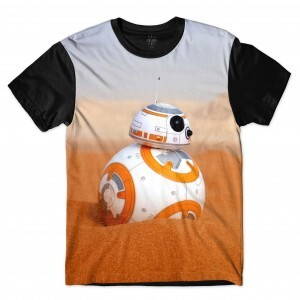Camiseta Insane 10 Star Wars BB8 Full Print Branco