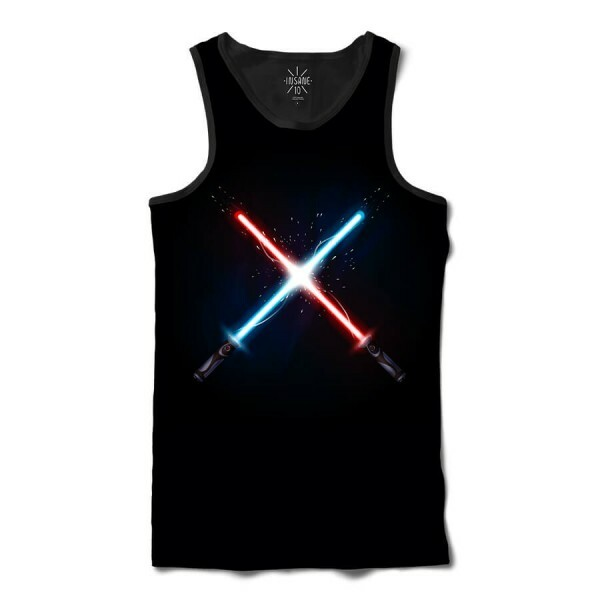 Regata Insane 10 Star Wars Sabres de Luz Full Print Preto