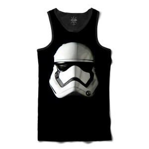 Regata Insane 10 Star Wars Máscara Stormtrooper Full Print Preto
