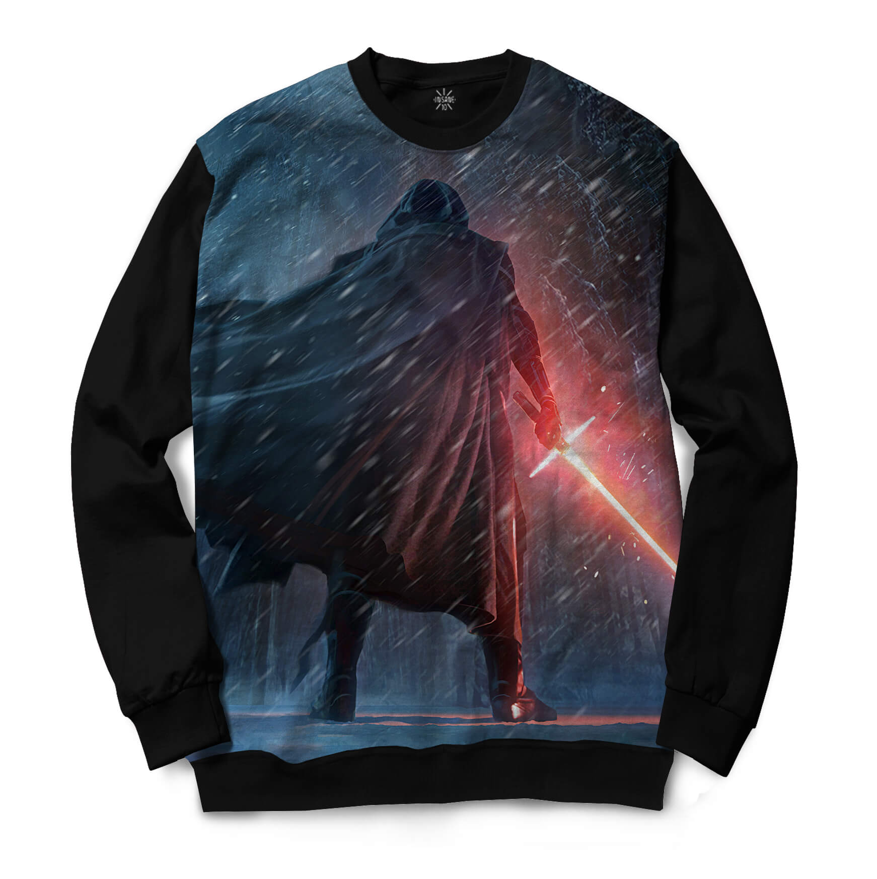 Moletom Gola Careca Insane 10 Star Wars Kylo Ren de Costas Full Print Azul
