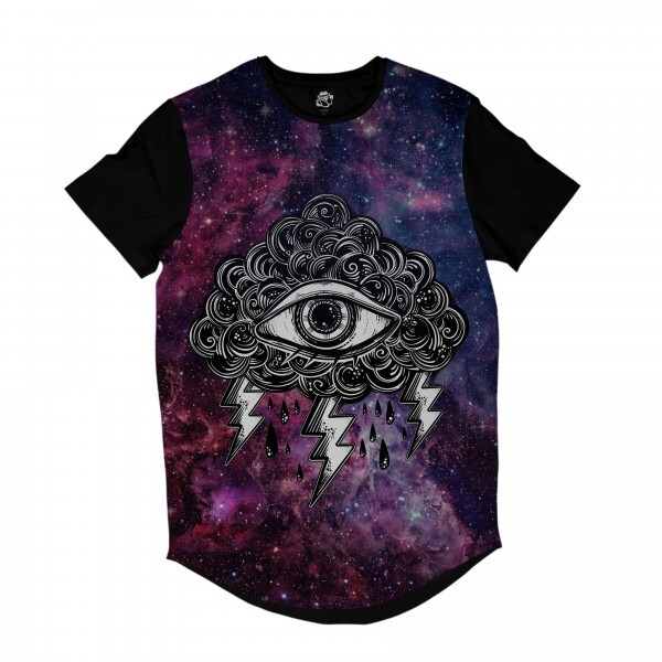 Camiseta Longline BSC Galáxia Olho nas Nuvens Full Print Colors