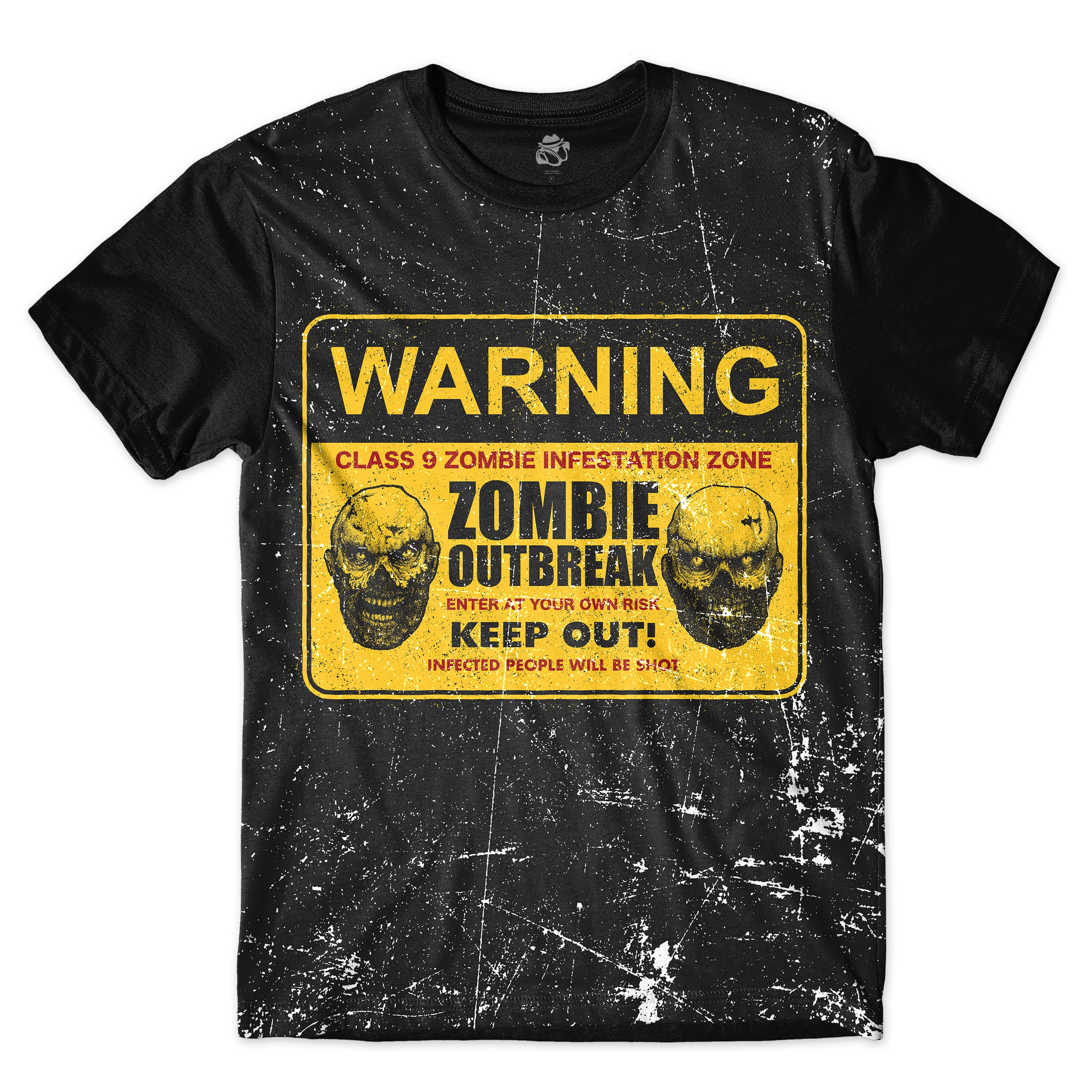 Camiseta BSC Zombies Zona infectada 5 Full Print Preto