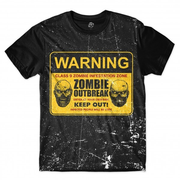 Camiseta BSC Zombies Zona infectada 5 Sublimada Preto