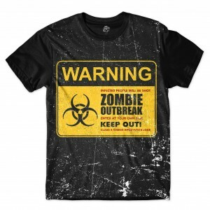 Camiseta BSC Zombies Zona infectada 6 Full Print Preto