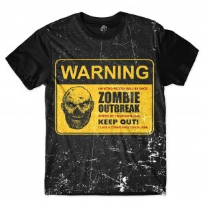 Camiseta BSC Zombies Zona infectada 7 Full Print Preto