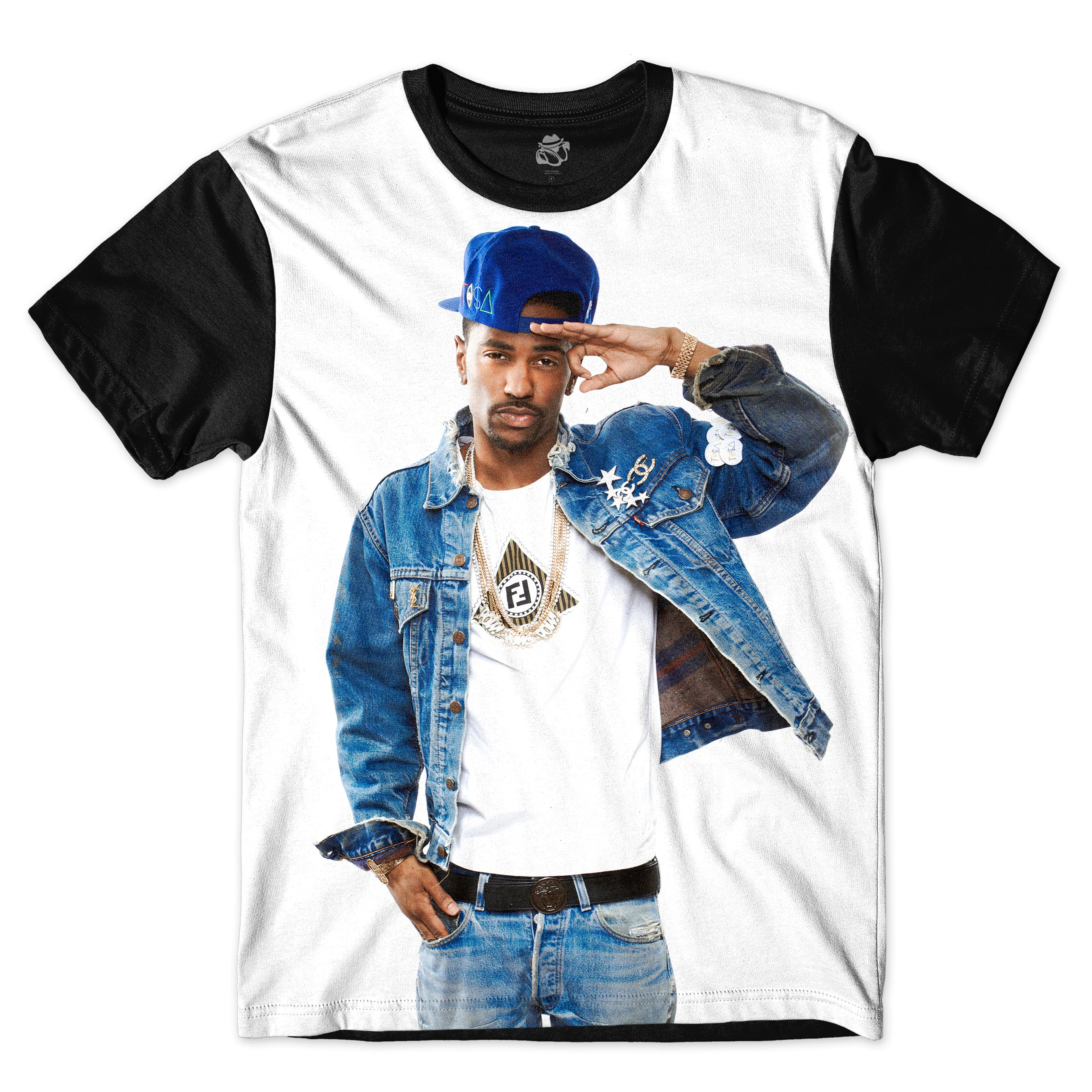 Camiseta BSC Rappers Big Sean OG Full Print Branco / Preto