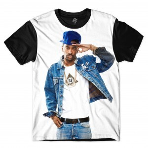 Camiseta BSC Rappers Big Sean OG Sublimada Branco / Preto