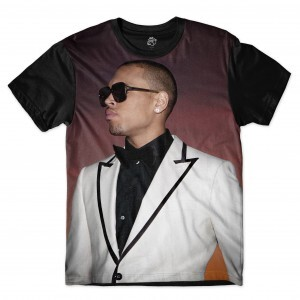 Camiseta BSC Rappers Breezy Full Print Marrom