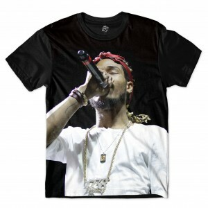 Camiseta BSC Rappers Fetty Wap Full Print Preto