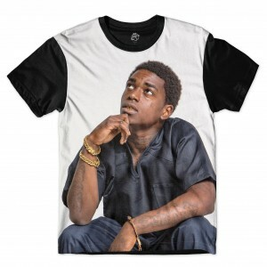 Camiseta BSC Rappers J- Black Full Print Cinza