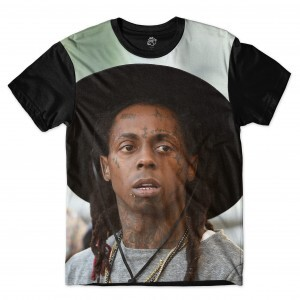 Camiseta BSC Rappers Lil Wayne Chapéu Sublimada Colors