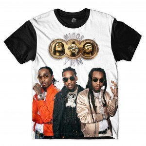 Camiseta BSC Rappers Migos YRN Full Print Colors