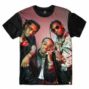 Camiseta BSC Rappers Migos Full Print Colors