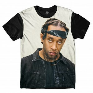 Camiseta BSC Rappers Ty Dolla Sign Sublimada Cinza / Preto