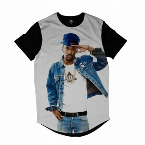 Camiseta Longline BSC Rappers Big Sean OG Sublimada Branco / Preto