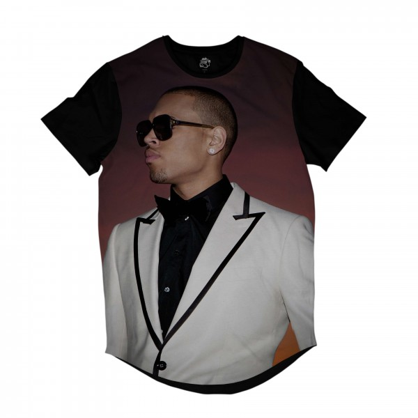 Camiseta Longline BSC Rappers Breezy Full Print Marrom