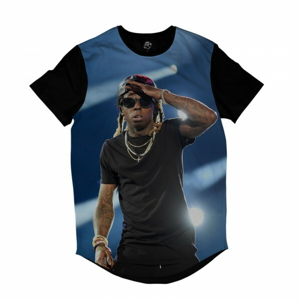 Camiseta Longline BSC Rappers Lil Wayne Show Full Print Colors