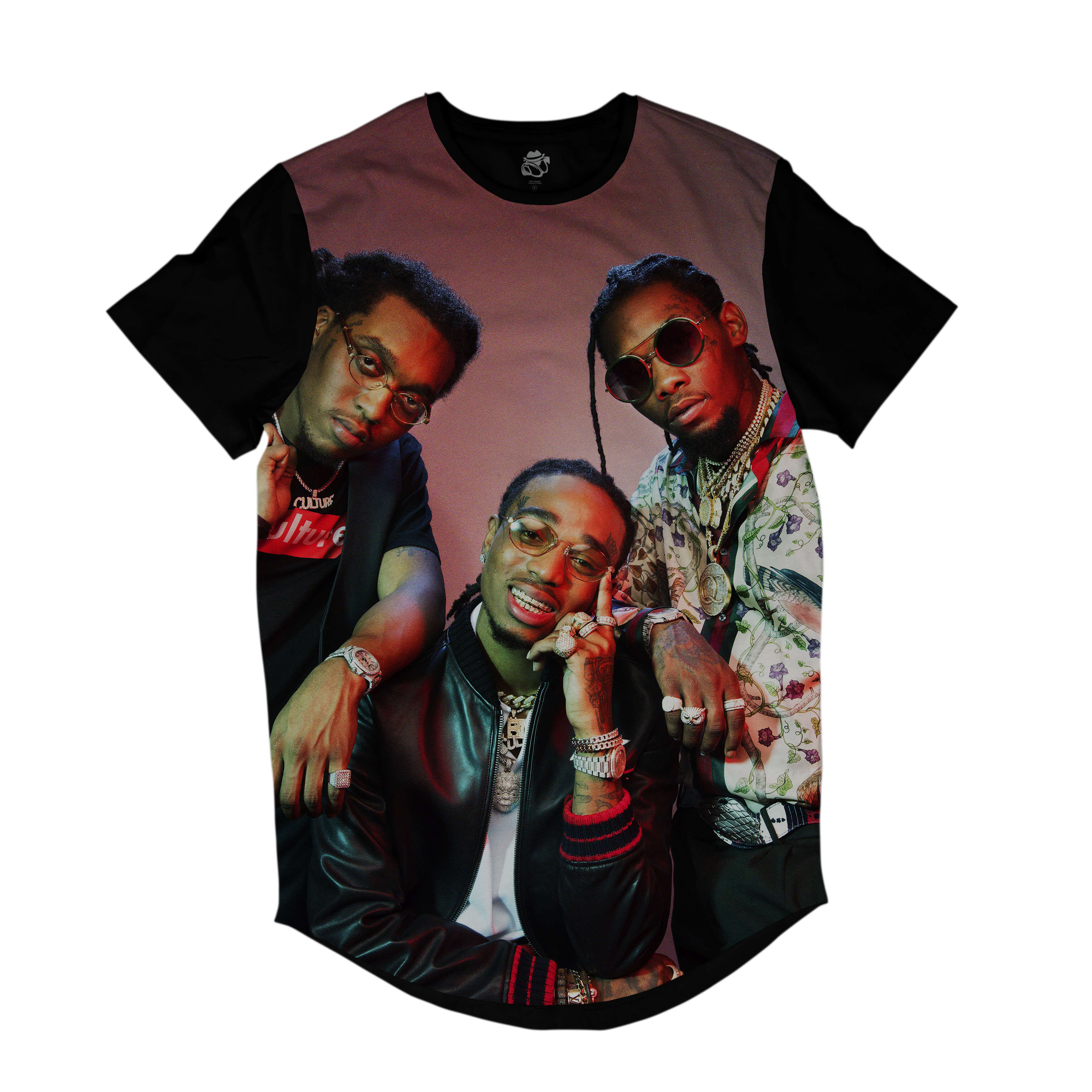 Camiseta Longline BSC Rappers Migos Full Print Colors