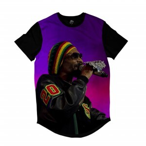 Camiseta Longline BSC Rappers Snoop Dogg Full Print Colors
