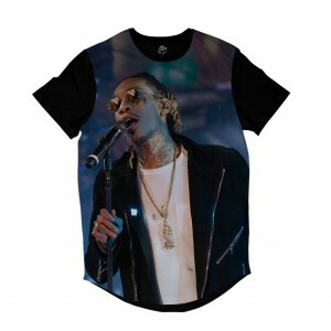 Camiseta Longline BSC Rappers Wiz Khalifa Show Sublimada Colors