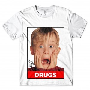 Camiseta Los Fuckers Ícones Macaulay Drugs Full Print Branco