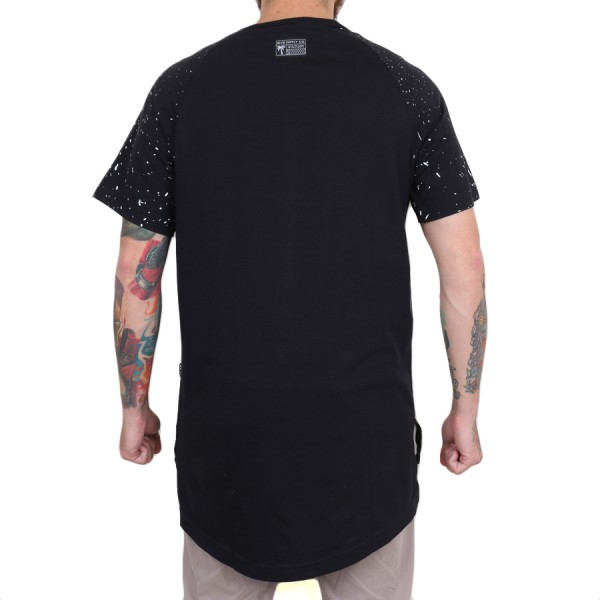 Camiseta BLVD Supply Tree Splatter Scalloped Preto