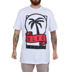 Camiseta BLVD Supply Scroll Branco