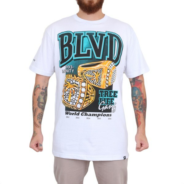 Camiseta BLVD Supply Ring Leader Branco
