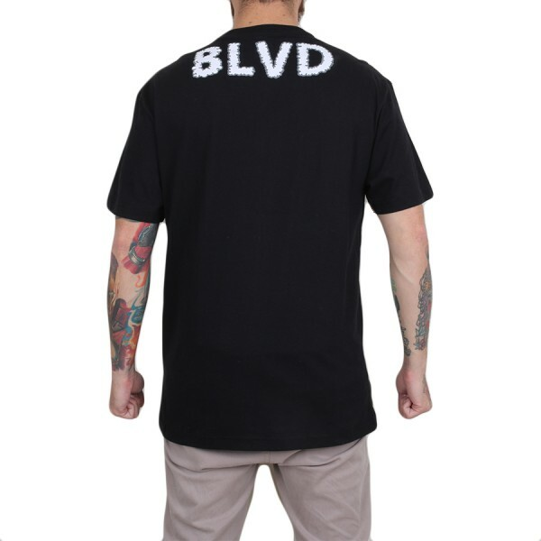 Camiseta BLVD Supply Cross Faded Preto