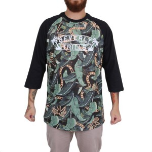 Camiseta BLVD Supply B. Trills Raglan Preto