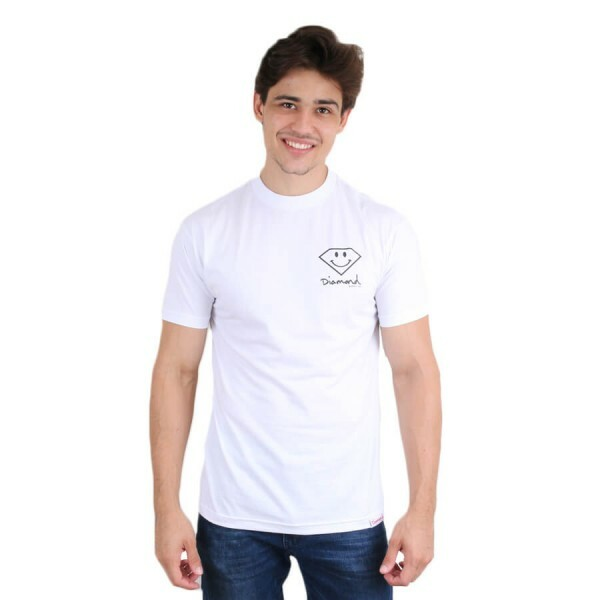 Camiseta Diamond Supply Co Smile Branco