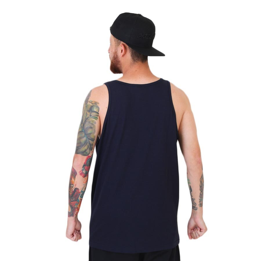 Camiseta Diamond Supply Co Regata Pier Girl Tank Azul Marinho