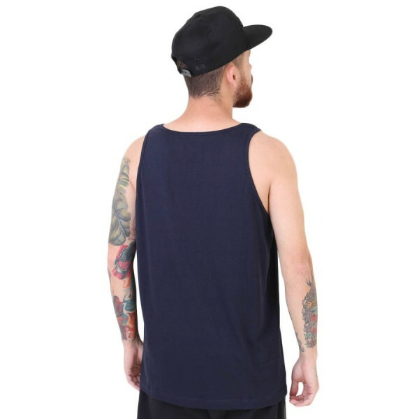 Camiseta Diamond Supply Co Regata Caddy Tank Azul Marinho