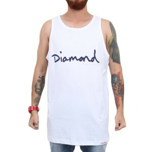 Camiseta Diamond Supply Co OG Script Tank Branco