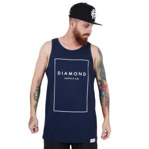 Camiseta Diamond Supply Co Boxed In Tank Azul Marinho