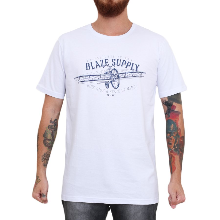 Camiseta Blaze Supply Ride High Branco