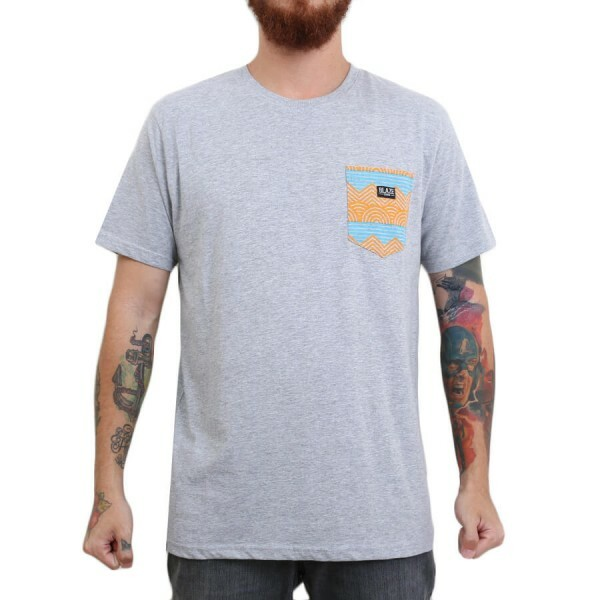 Camiseta Blaze Supply Pocket Ethnic Cinza