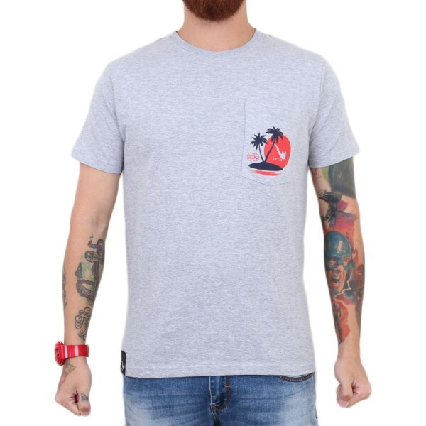Camiseta Blaze Supply Pocket Blaze And Chill Cinza