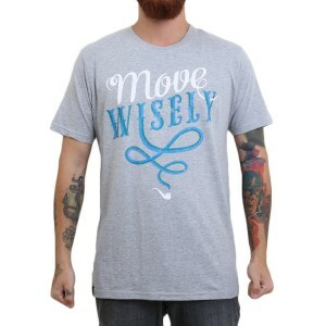 Camiseta Blaze Supply Move Wisely Cinza