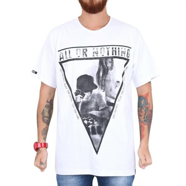 Camiseta KAOS All or Nothing Branca