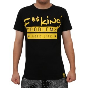 Camiseta 18 Kilates Problems Gold Life Black