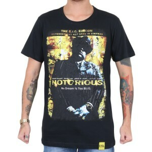 Camiseta 18 Kilates Notorious BIG Preto