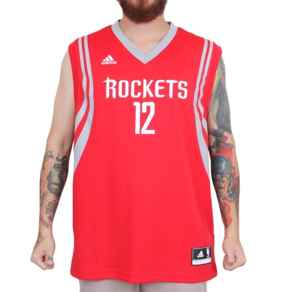 Camiseta Adidas Regata NBA Houston Rockets Howard Vermelho