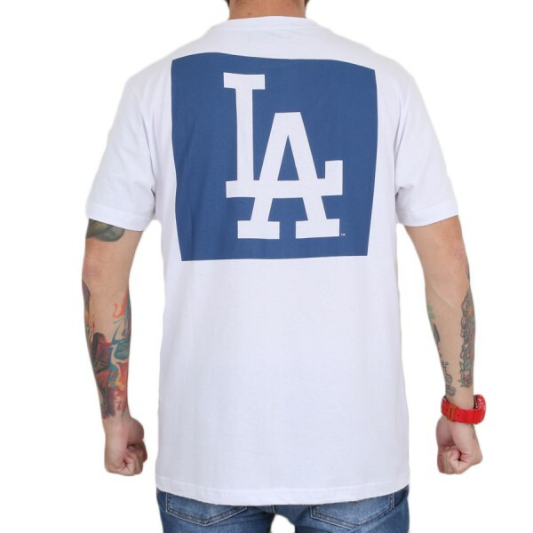 Camiseta New Era Los Angeles Dodgers Poster Branco
