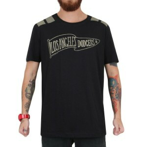 Camiseta New Era Los Angeles Dodgers Bandeir Preto