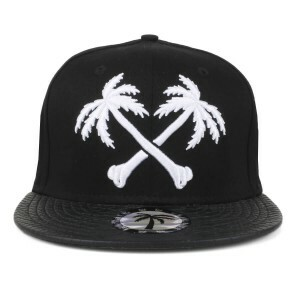 Boné BLVD Supply Snapback Crossbones Preto