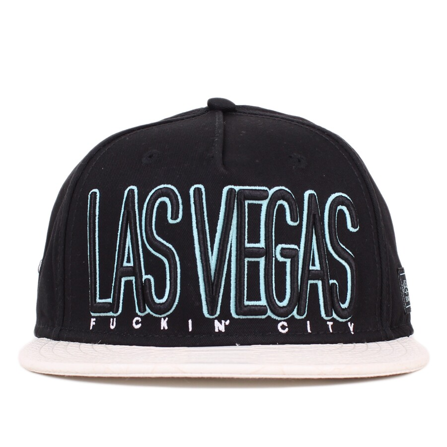 Boné Cayler And Sons Strapback Las Vegas Cap Black/White