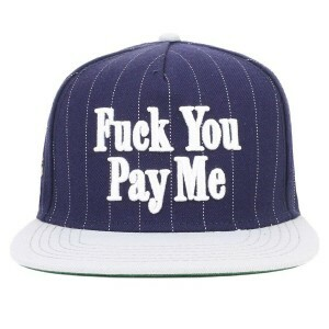 Boné Cayler And Sons Snapback WL F You Pay Me Azul Marinho/Cinza