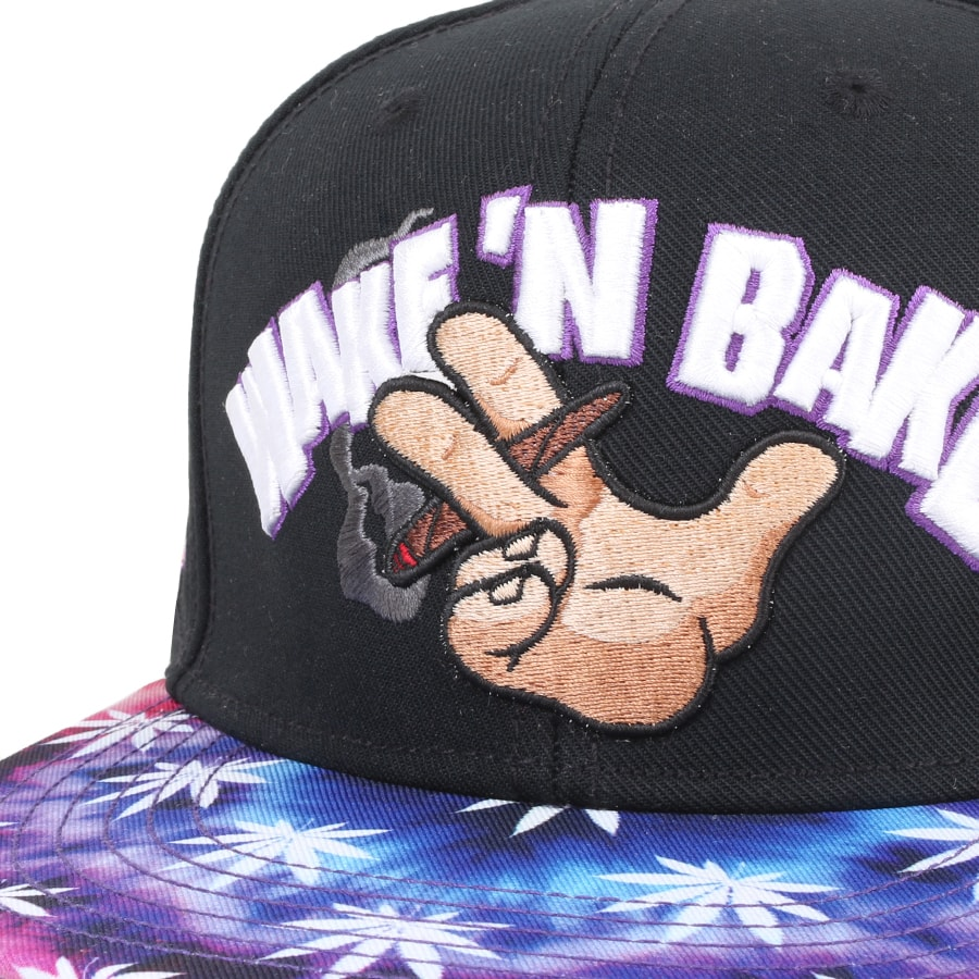 Boné Cayler And Sons Snapback Wake N Bake Preto