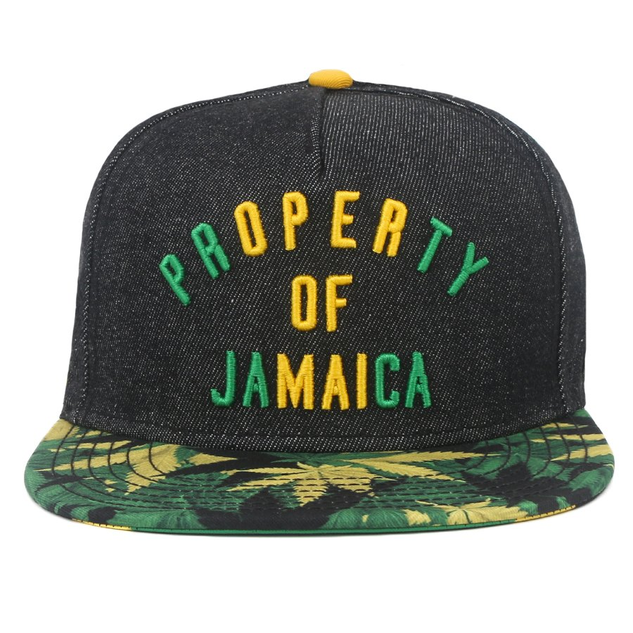 Boné Cayler And Sons Snapback Property Of Jamaica Jeans Black/Printed